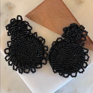 BOGO! Black Beaded Statement Earrings